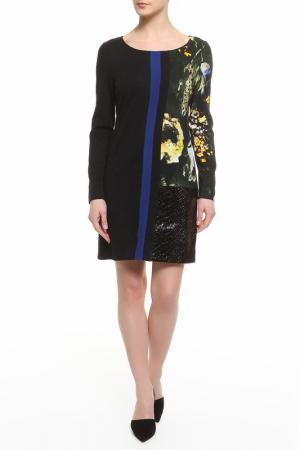 Платье CLASS ROBERTO CAVALLI. Цвет: черный, желтый