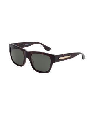 Солнцезащитные очки McQueen. Цвет: коричневый
