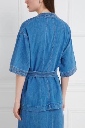 Джинсовый жакет MiH jeans. Цвет: голубой