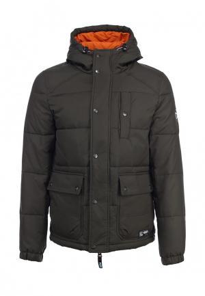 Куртка утепленная Puffa. Цвет: коричневый