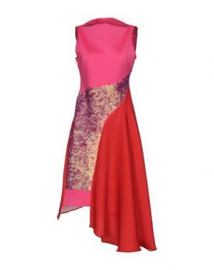 Платье длиной 3/4 CLOVER CANYON. Цвет: фуксия