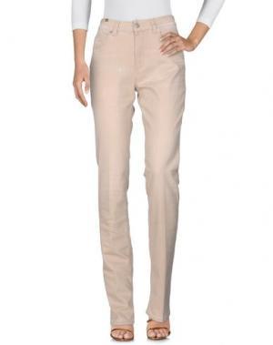Джинсовые брюки NOTIFY. Цвет: песочный