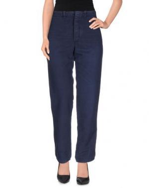 Повседневные брюки JO NO FUI. Цвет: темно-синий