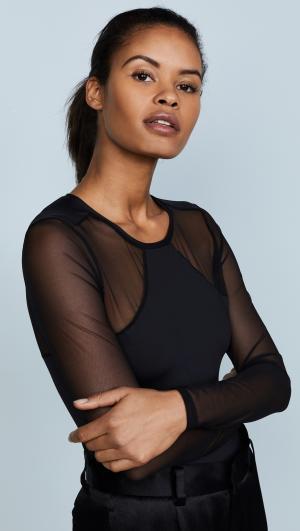 Bisou Move Long Sleeve Bodysuit Cosabella
