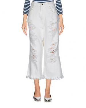 Джинсовые брюки MARCO BOLOGNA. Цвет: белый