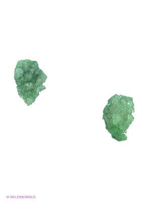 Серьги Красота Природы. Цвет: светло-зеленый, серебристый