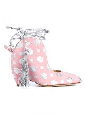 Туфли на танкетке Liudmila. Цвет: многоцветный