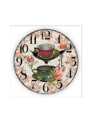 Часы настенные Чашки Magic Home. Цвет: белый