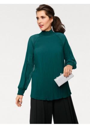 Блузка ASHLEY BROOKE by Heine. Цвет: изумрудный, черный
