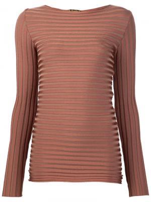 Блузка с длинными рукавами Pepa Pombo. Цвет: коричневый