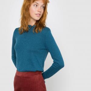 Пуловер с небольшим воротником MADEMOISELLE R. Цвет: бордовый,сине-зеленый