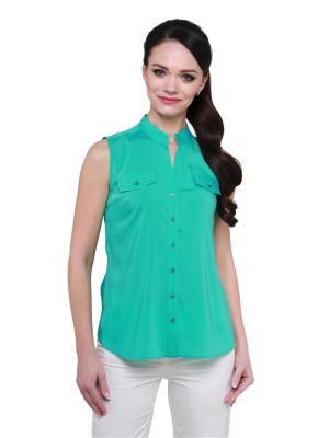 Блузка BLAUZ. Цвет: бирюзовый