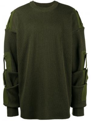 Джемпер со съемными рукавами Y / Project. Цвет: зелёный