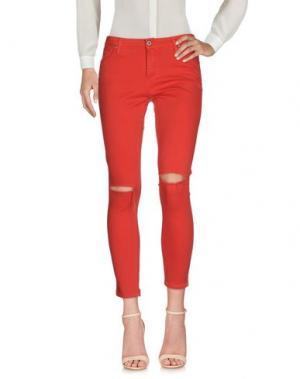 Повседневные брюки PLEASE. Цвет: красный