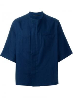 Рубашка свободного кроя Haider Ackermann. Цвет: синий