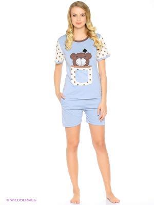 Пижама Friendly bear (голубая) Kawaii Factory. Цвет: голубой