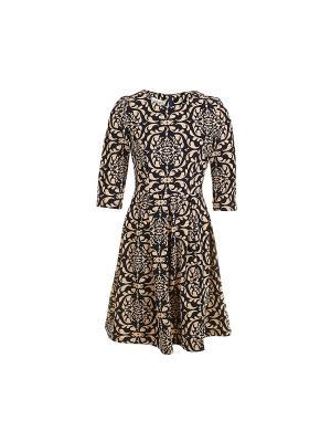 Платье из плотного жакарда с рукавами COCOS