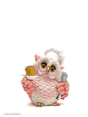 Фигурка Сова-повар Sealmark. Цвет: розовый, белый