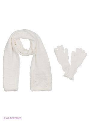 Шапка;  перчатки Krife. Цвет: белый