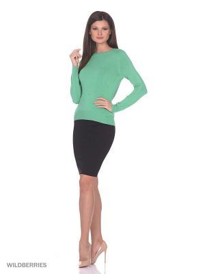 Женский вязаный джемпер с длинными рукавами SMART&FANCY. Цвет: зеленый
