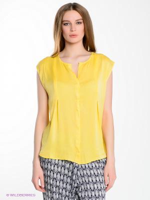 Блузка Yerse. Цвет: желтый