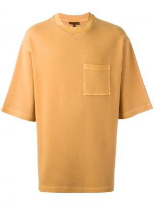 Объемная футболка Yeezy. Цвет: жёлтый и оранжевый