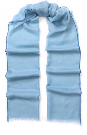 Кашемировая шаль Sciarpa fil and Loro Piana. Цвет: синий