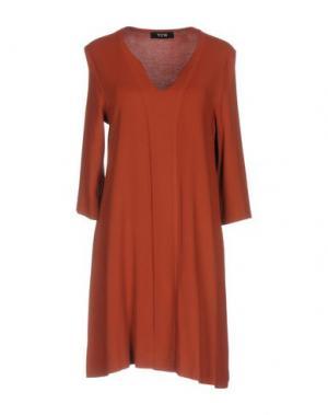 Короткое платье TOTON COMELLA - TCN. Цвет: коричневый