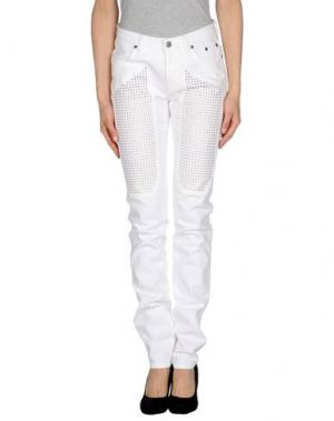 Джинсовые брюки JECKERSON. Цвет: белый