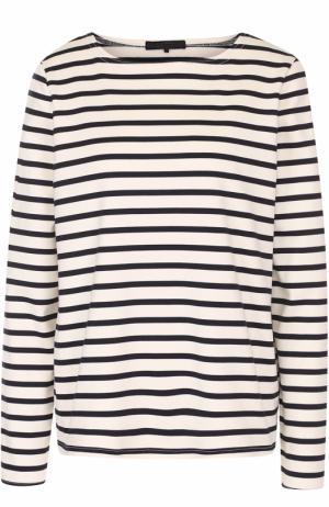 Пуловер прямого кроя в контрастную полоску The Row. Цвет: темно-синий