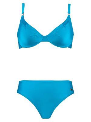 Купальный костюм NATURANA. Цвет: голубой