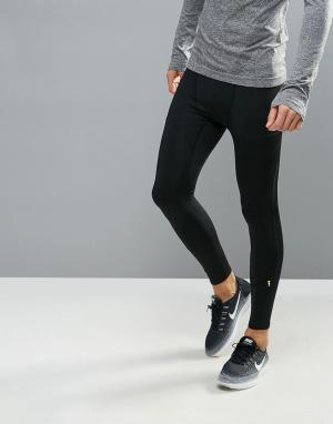 New Look Черные леггинсы для бега. Цвет: черный