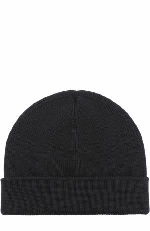 Шерстяная шапка бини TSUM Collection. Цвет: черный