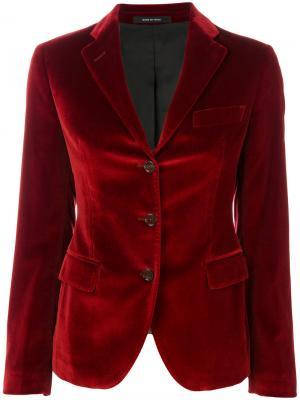 Пиджак в стиле casual Tagliatore. Цвет: красный