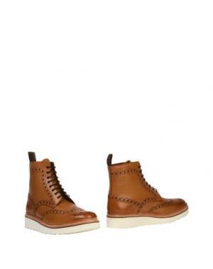 Полусапоги и высокие ботинки GRENSON. Цвет: желто-коричневый