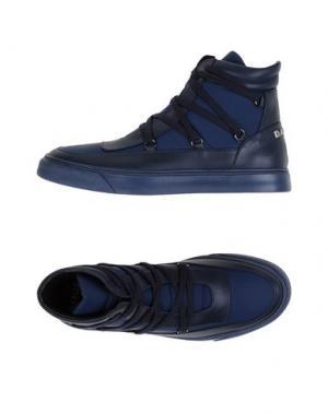 Высокие кеды и кроссовки W DABLIU. Цвет: темно-синий