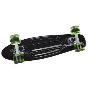 Скейт мини круизер  Black 22 (55.9 см) Long Island. Цвет: голубой