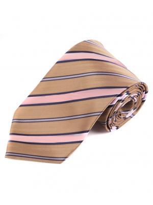 Галстук Pierre Lauren. Цвет: коричневый, розовый, серый