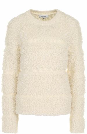 Вязаный пуловер с круглым вырезом Carven. Цвет: бежевый