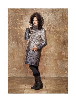 Пальто DIDILIYA. Цвет: серый