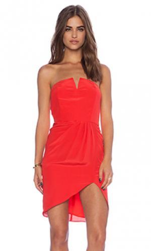Платье без бретель piper Myne. Цвет: красный