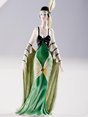 Фигурка Дама Pavone. Цвет: зеленый (осн.), кремовый