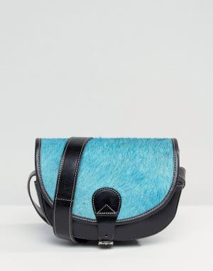 Park Lane Кожаная сумка через плечо. Цвет: черный