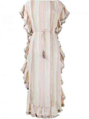Платье-кафтан Tropicale в полоску Zimmermann. Цвет: многоцветный