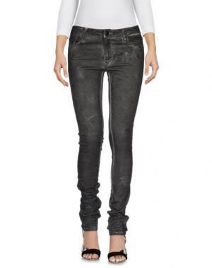Джинсовые брюки AARCC. Цвет: свинцово-серый