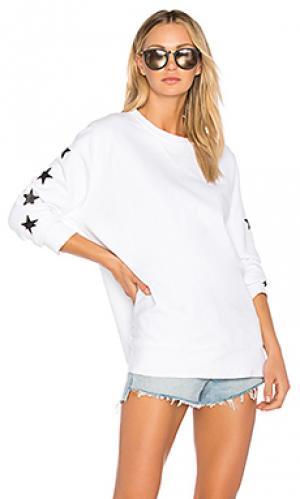 Свитшот foil stars MONROW. Цвет: белый