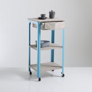 Столик сервировочный на колесиках из дерева и металла  Zane La Redoute Interieurs. Цвет: оранжевый,синий