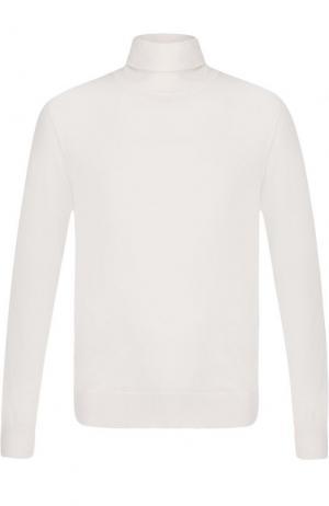 Однотонная кашемировая водолазка Zegna Couture. Цвет: белый