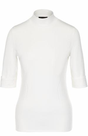 Вязаный пуловер с коротким рукавом Escada. Цвет: белый