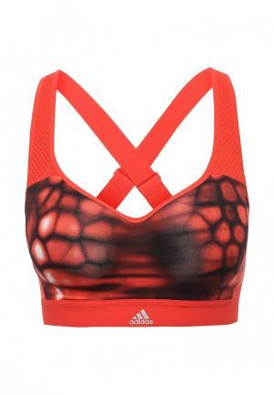 Топ спортивный adidas Performance. Цвет: красный